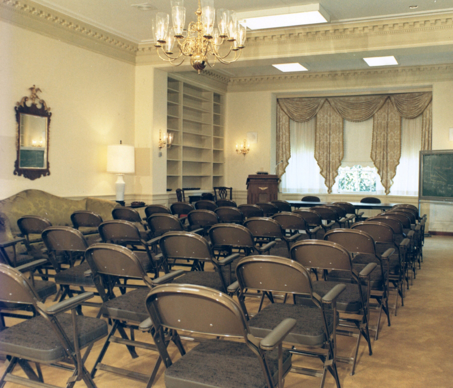 Stone House lecture set-up