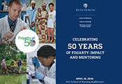 Intro slide - celebrating 50 years of Fogarty: impact and mentoring