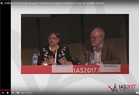 Screen capture of recorded webcast of July 2017 symposium session at the International AIDS Symposium IAS Conference
