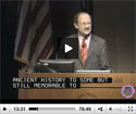 Webcast screenshot of Dr Harold Varmus speaking
