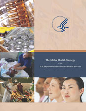 Cover of the Global Health Strategy of the U.S. Department of Health and Human Services