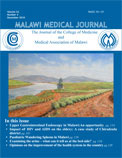 Sample cover of the Malawi Medical Journal