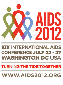 AIDS 2012 conference logo and information - www.aids2012.org