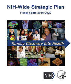 Cover of the NIH-wide strategic plan fiscal years 2016-2020