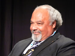 Closeup of Ambassador Eric Goosby, smiling