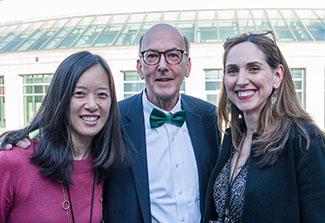 Drs Evelyn Hsieh, Roger Glass and Laura Lewandowski pose outdoors