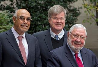 Bill Pape, Dan Fitzgerald and Warren Johnson pose for camera
