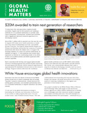 Cover of March/April 2012 issue of Global Health Matters