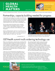 Cover of March / April 2013 issue of Global Health Matters