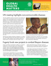 Cover of September/October 2011 issue of Global Health Matters