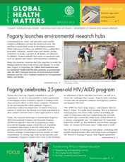 Cover of September / October issue of Global Health Matters