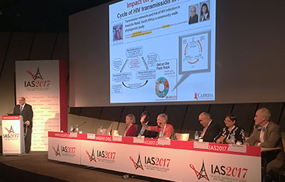 Speakers and panelists from the IAS 2017 session on ending AIDS through research training and capacity building in LMICs