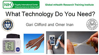 sample slide titled What Technology Do You Need? with 4 mhealth images across the bottom