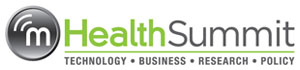 mHealth Summit logo with tagline: technology, business, research, policy