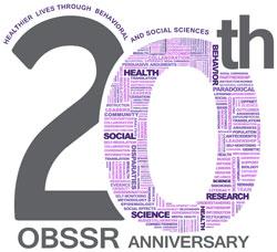 20th OBSSR anniversary: healthier lives through behavioral and social sciences. 0 in 20 shows word cloud
