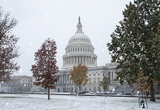 U.S. Capitol building during the winter.