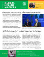Cover of January / February 2013 issue of Global Health Matters