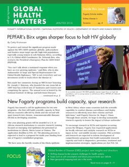 Cover of January February 2016 issue of Global Health Matters
