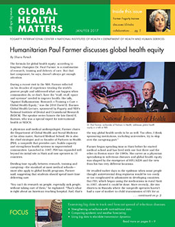 Cover of January February 2017 issue of Global Health Matters