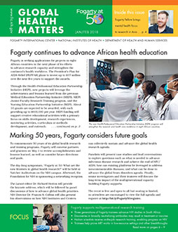 Cover of January February 2018 issue of Global Health Matters
