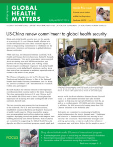 Cover of July August 2015 issue of Global Health Matters