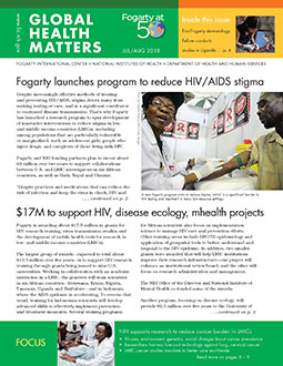 Cover of July August 2018 issue of Global Health Matters