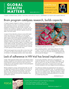 Cover of March April 2015 issue of Global Health Matters