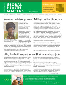 Cover of May June 2015 issue of Global Health Matters