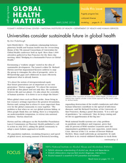 Cover of May June 2016 issue of Global Health Matters
