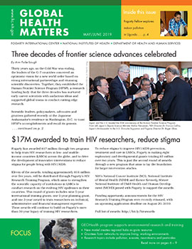 Cover of May June 2019 issue of Global Health Matters