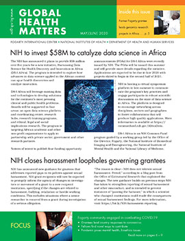 Cover of May June 2020 issue of Global Health Matters