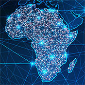 Digital map of Africa. Image by iStock.