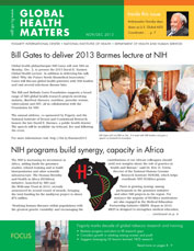 Cover of November December 2013 issue of Global Health Matters