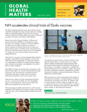 Cover of November December 2014 issue of Global Health Matters