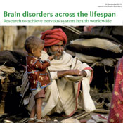 Section of cover of Nature supplement on brain disorders across the lifespan
