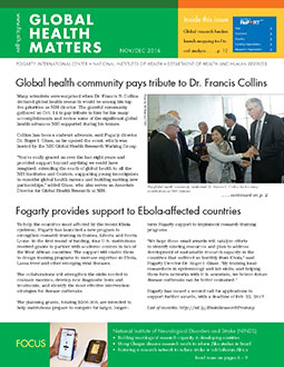 Cover of November December 2016 issue of Global Health Matters