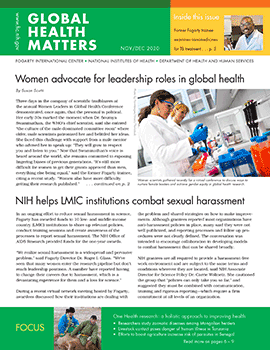 Cover of November December 2020 issue of Global Health Matters