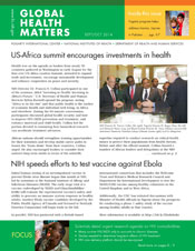 Cover of September October 2014 issue of Global Health Matters