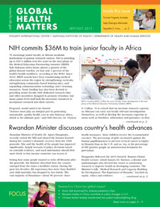 Cover of September October 2015 issue of Global Health Matters