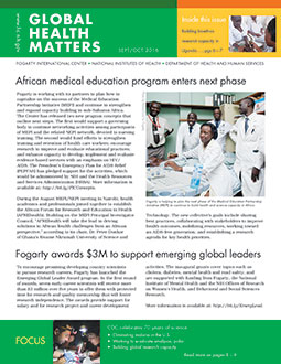 Cover of September October 2016 issue of Global Health Matters