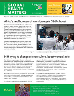 Cover of September October 2018 issue of Global Health Matters