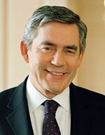 Photo: Headshot of Gordon Brown