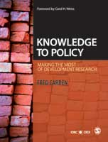 Cover of the book Knowledge to Policy: Making the Most of Development Research
