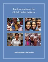 Cover of the report Implementation of the Global Health Initiative