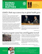 Cover of February 2011 issue of Global Health Matters