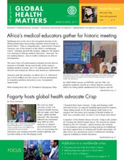 Cover of April 2011 issue of Global Health Matters