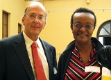 Dr. Roger Glass and Dr. Ruth Ndduati of Kenya.