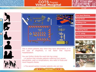 A screenshot from the COTS Program Virtual Hospital CD