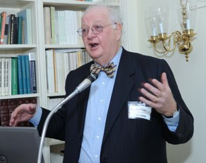 Dr. Angus Deaton speaking to audience