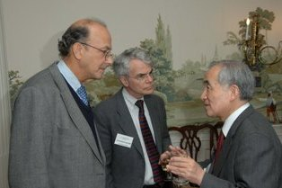 Fogarty Director Dr. Roger Glass with Dr. Akira Masaike, and Dr. Michael Gottesman